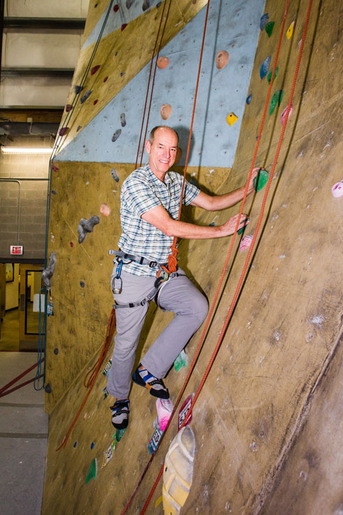 David Knowles indoor climbing
