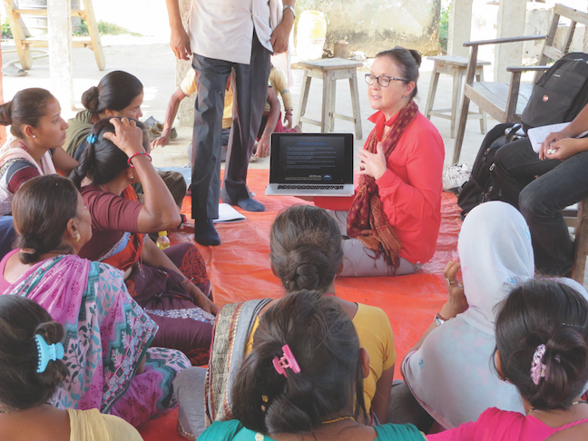 Dorene Teaching in Nepal