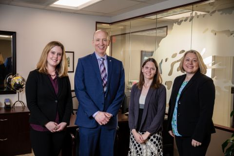Oregon Pacific Bank's Amber White, Ron Green, Ellen Huntingdon and  Kate Salyers.