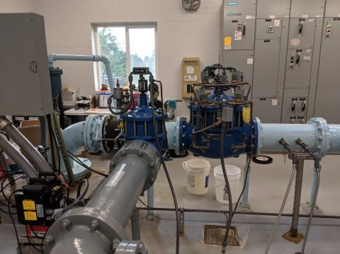 Water purification system in the Sorrento facility.