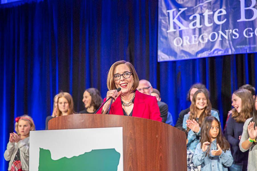 Kate Brown celebrates win in Oregon governor race