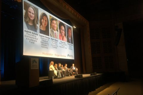 panelists speak at the 2018 Greater Portland economic summit
