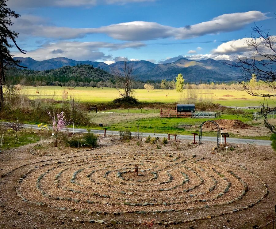 The labyrinth at Pacifica: A Garden in the Siskiyous in Williams, Oregon. Pacifica received a $43,348 CRFCS grant award