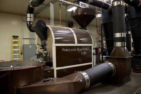 The roaster that will soon be connected to a waste heat recovery device