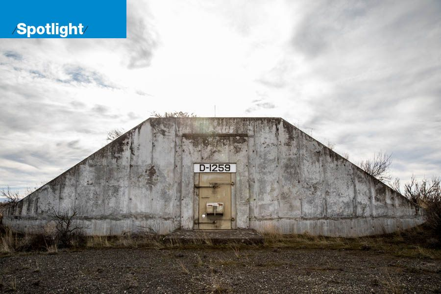 "An ""igloo,"" or concrete bunker, which used to hold chemical weapons at the Umatilla Chemical Depot near Hermiston in Eastern Oregon"