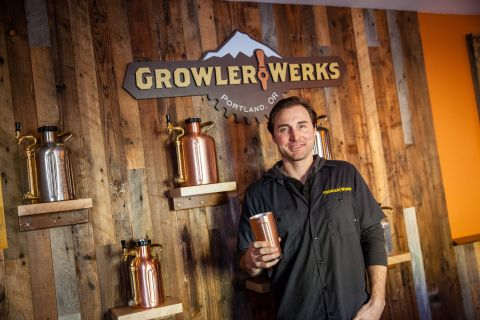 GrowlerWerks co-founder Shawn Huff