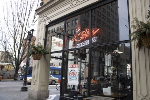 Killer Buger's original location in downtown Portland.