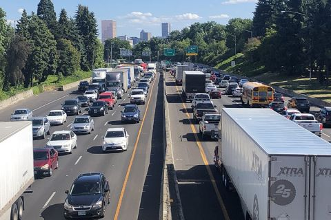 Portland's rush hour traffic