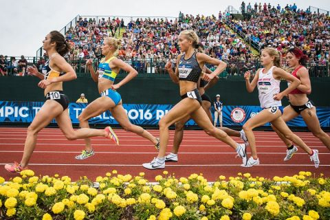 Runners compete at the 2016 Olympic Trials