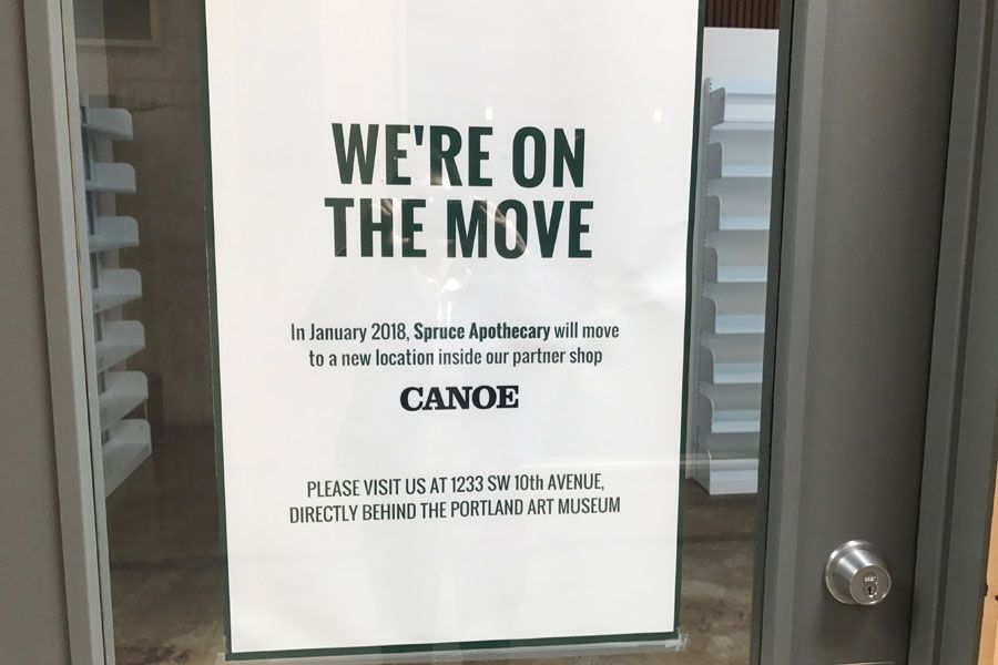 A sign posted to one of the tenant spaces inside the Union Way development