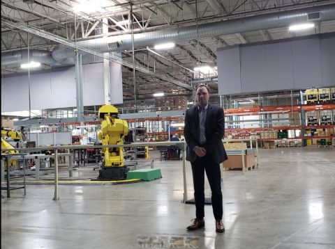 CEO Craig Evans at the Wilsonville facility.