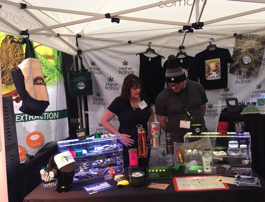 Vendors at a recent Portland cannabis conference