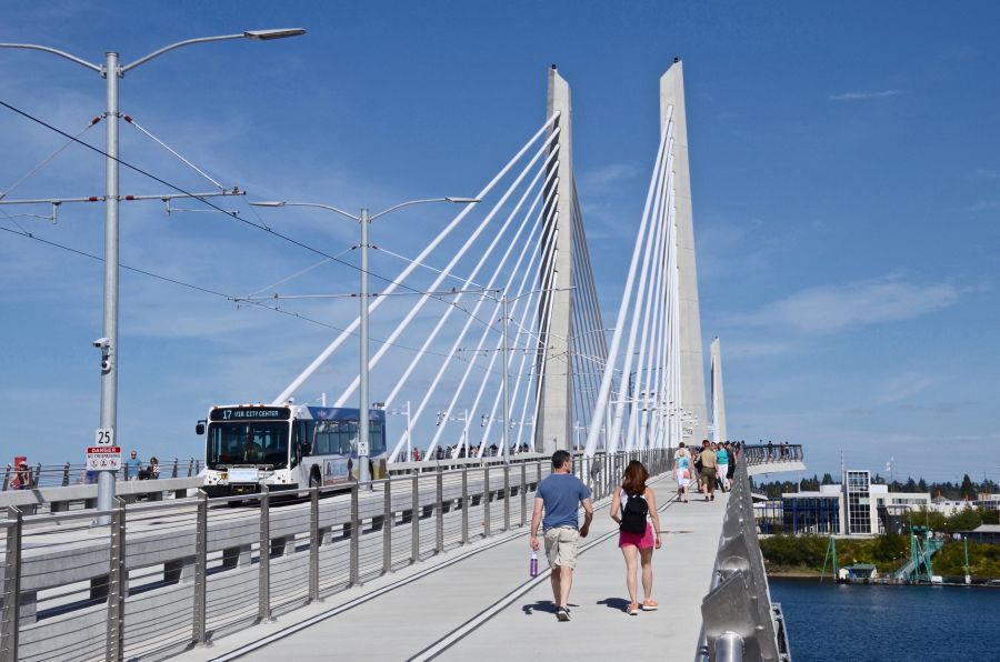 Tillikum crossing, where the new line will cross into downtown