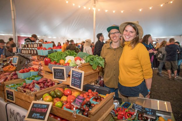 Lily Strauss (left) and Kayleigh Hillert started Moon River Farms in 2017 in Nehalem. The demand for their produce has grown substantially, both from restaurants and stores, as well as farmers market customers.